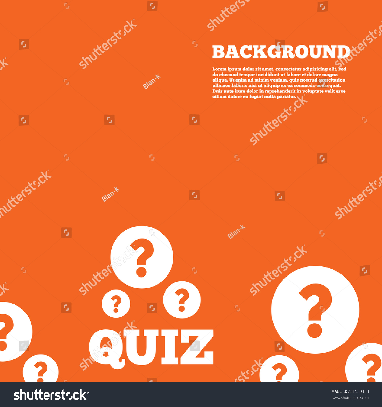 Modern Design Background Quiz Question Marks Stock Vector