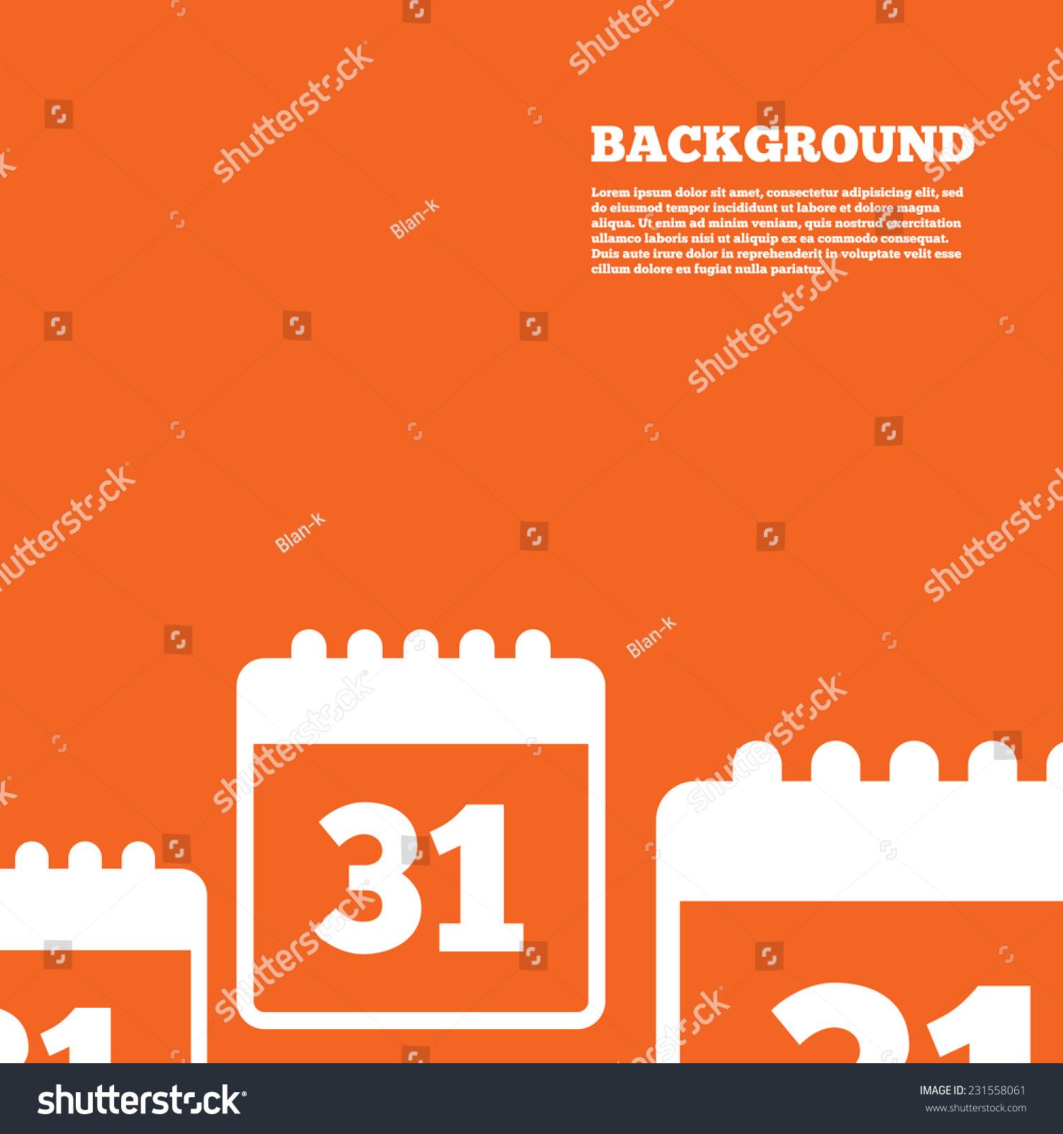 Modern Design Background Calendar Sign Icon Stock Vector 2018