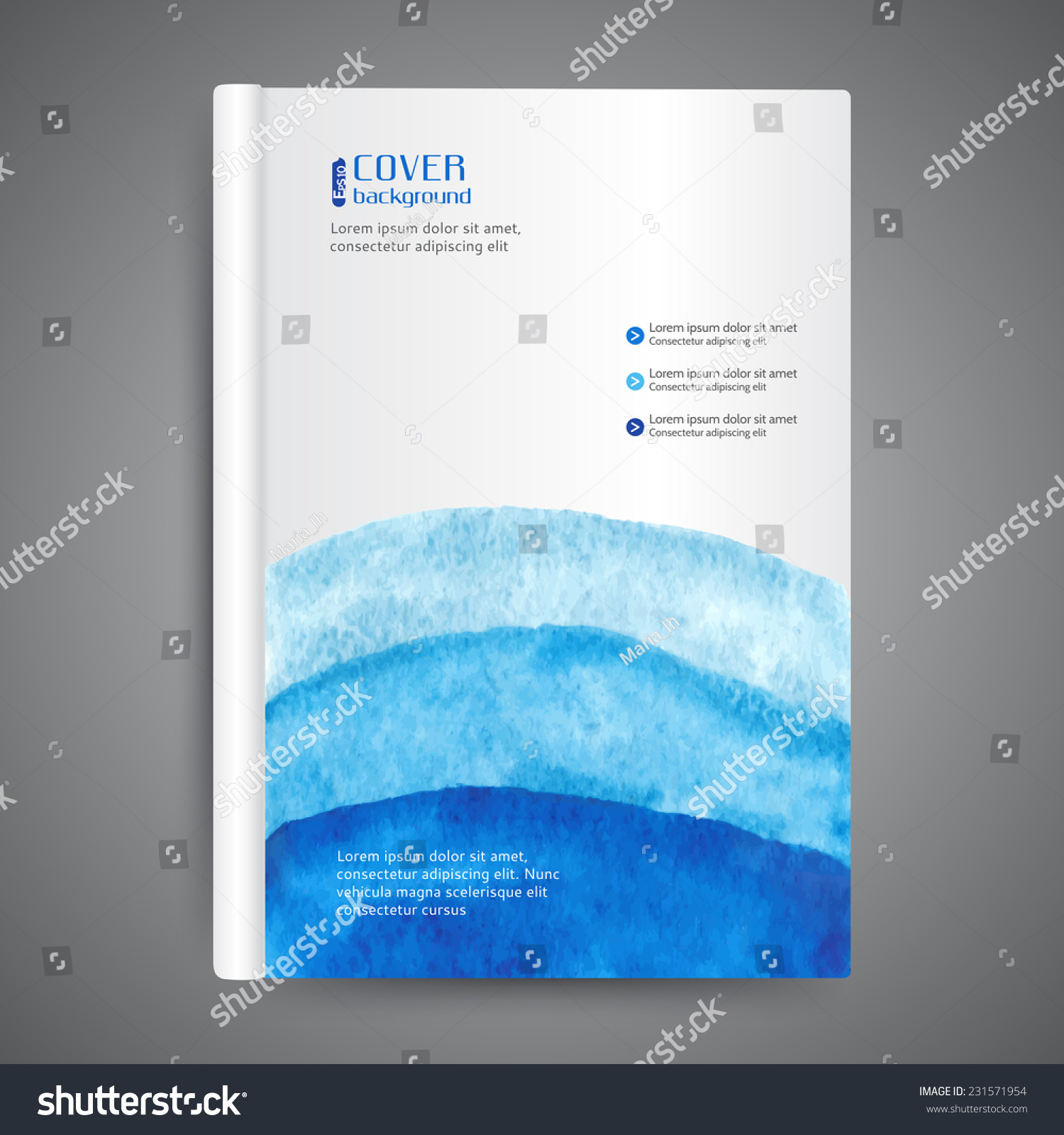 Abstract Modern Template Book Cover ~ Abstract modern template book cover stock vector
