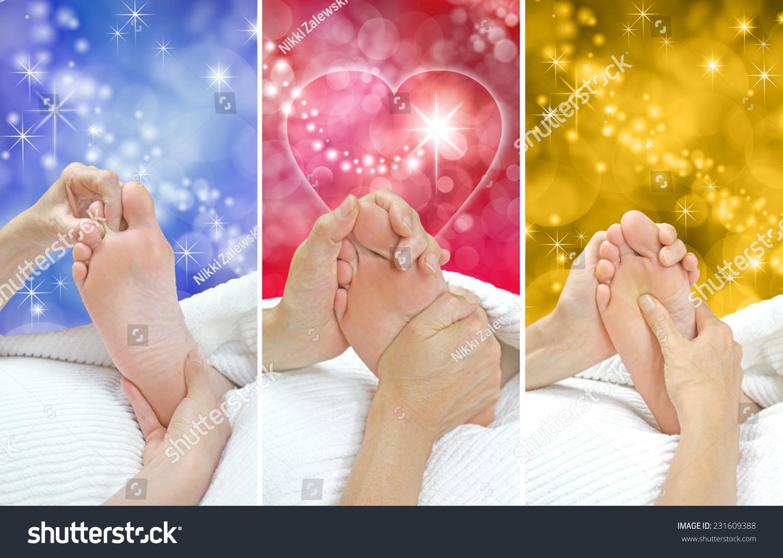 Foot Massage Christmas Gift Idea X Stock Photo Edit Now 231609388