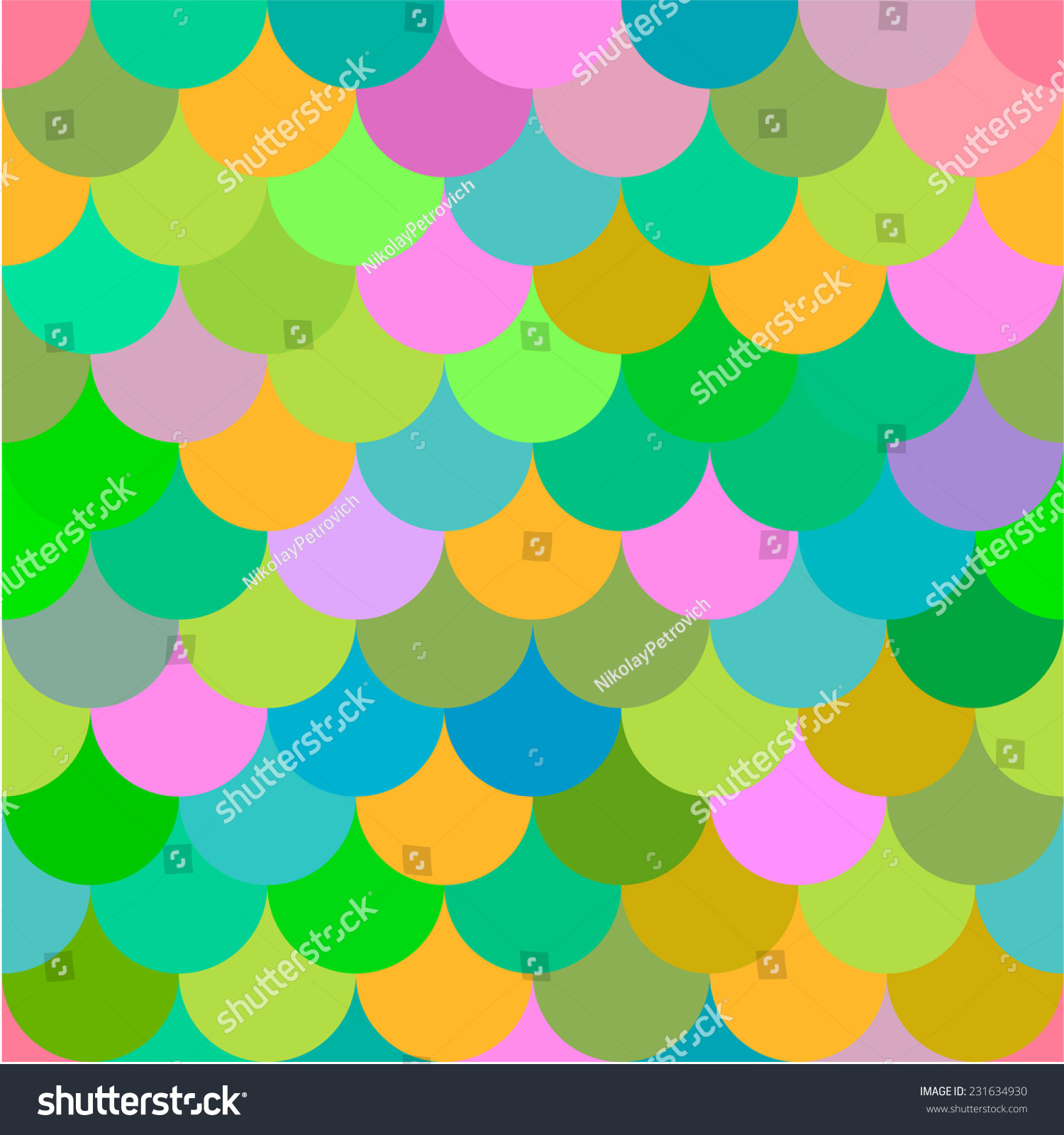 Color Scales Abstract Seamless Pattern Stock Vector (Royalty