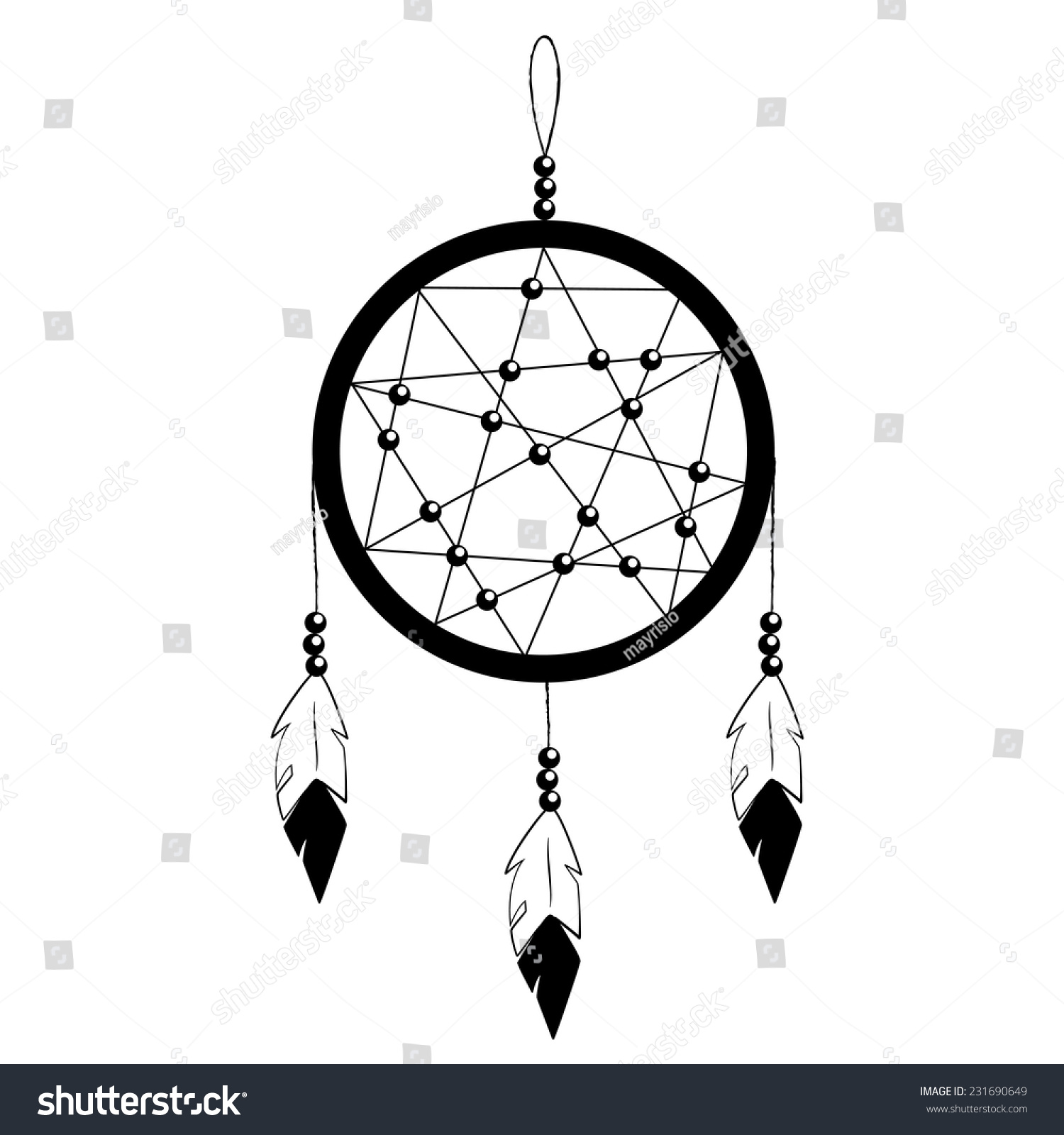 Ink dream catcher protection symbol american stock vector ink dream catcher protection symbol of american indians graphic vector illustration black icon on biocorpaavc Gallery