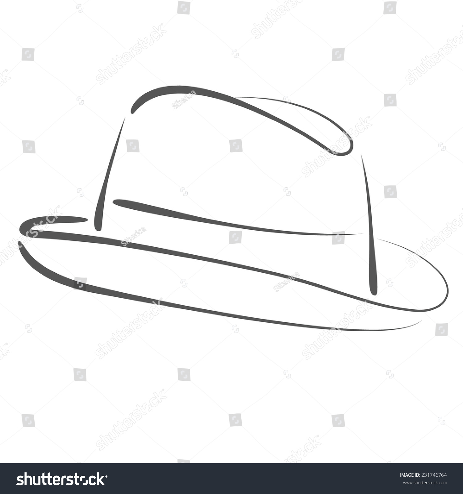 Fedora hat template images template design ideas for Cdstomper com template