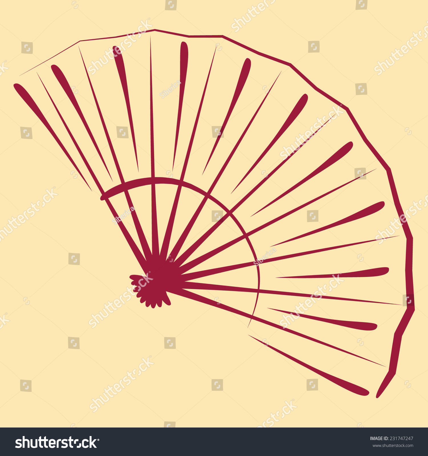 hand fan template. simple and elegant sketched folding fan. background can be easily removed. design template for hand fan