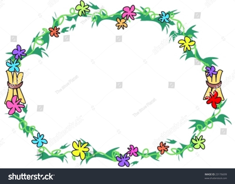 Frame Ring Bundles Flowers Vector Stock Vector (Royalty Free ...