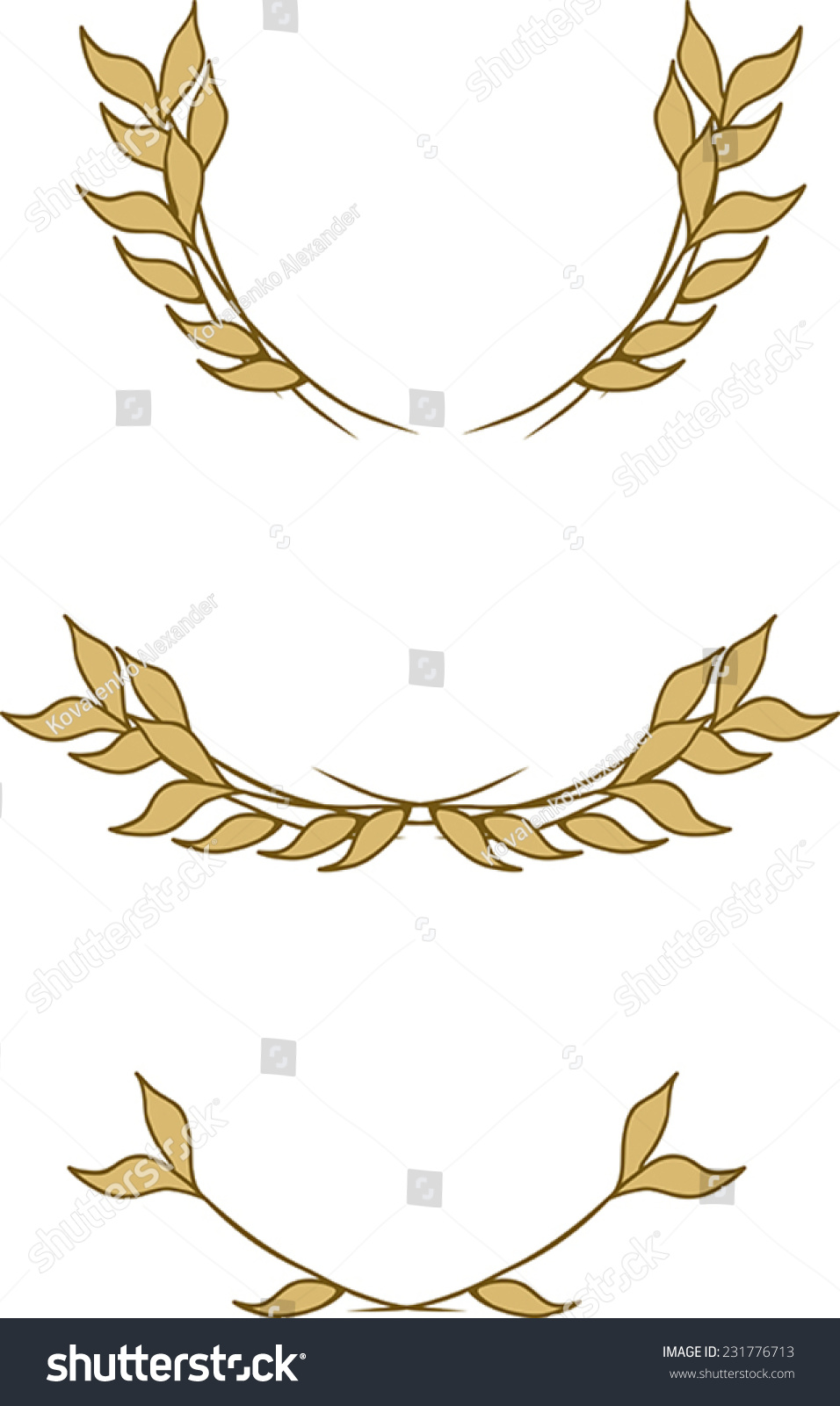 Of Wreaths Set Wreaths Leaves Stock Vector 231776713 Shutterstock