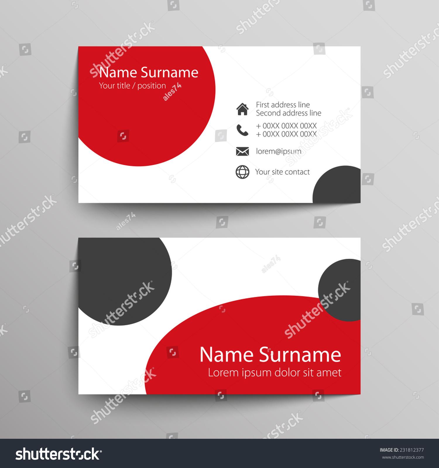 Modern Simple Business Card Template Vector Stock Vector 231812377 ...