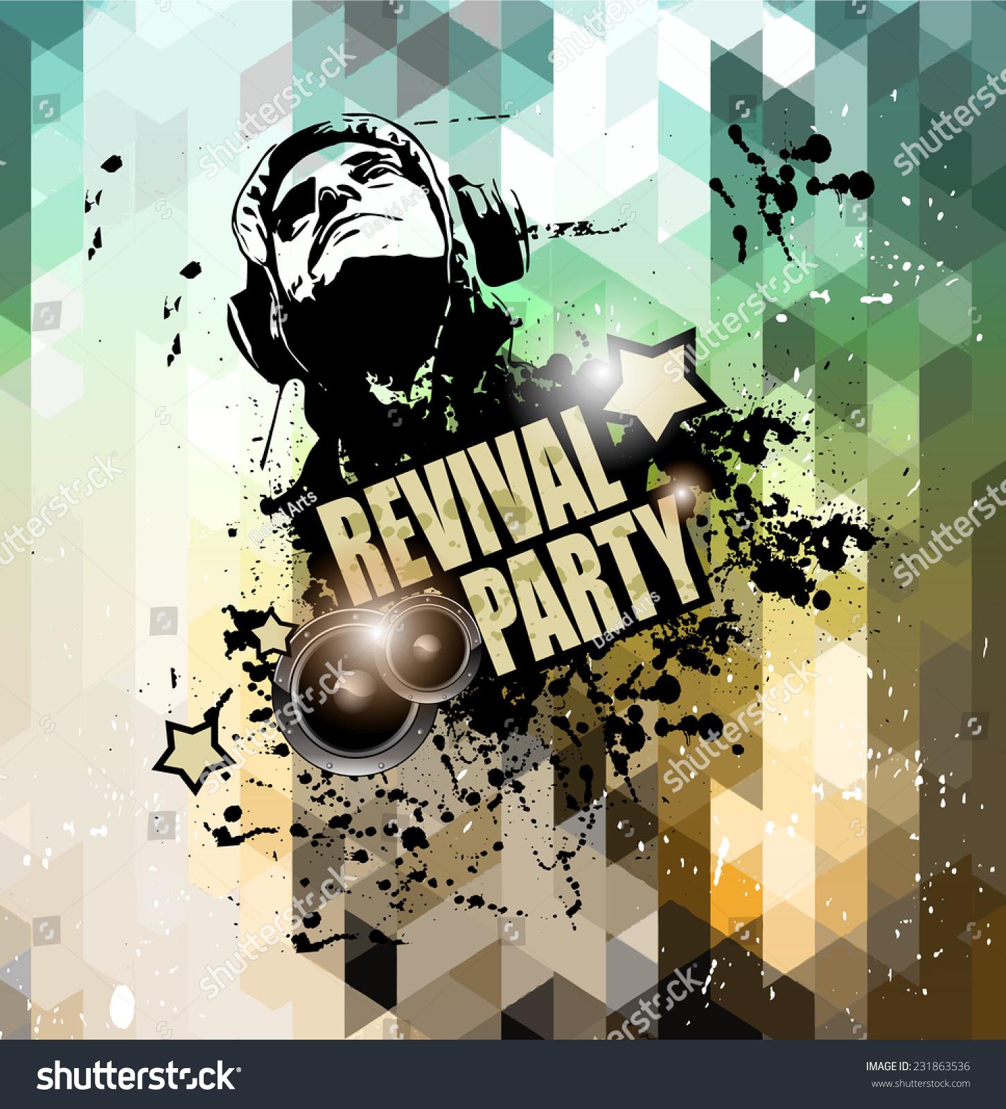 Disco Flyer Design Music Club Night Stock Illustration 231863536