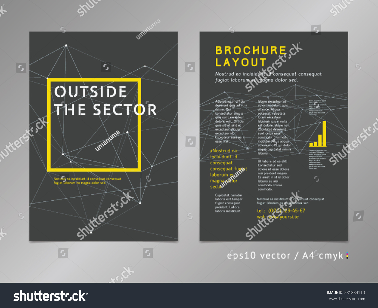 brochure catalog cover page layout template stock vector  brochure catalog cover page layout template think outside the box concept on