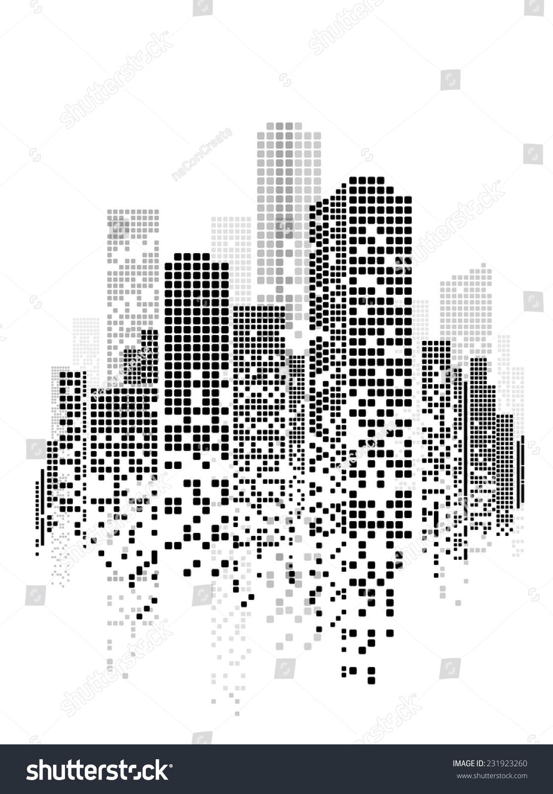 Vector Illustration Web Designs: Vector Design Building City Illustration Night Stock
