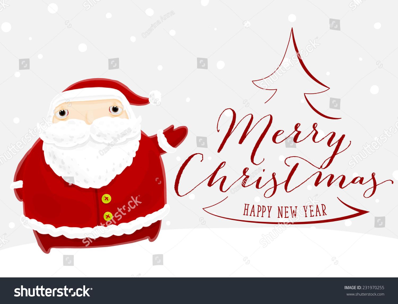 santa claus merry christmas label holiday stock vector royalty free