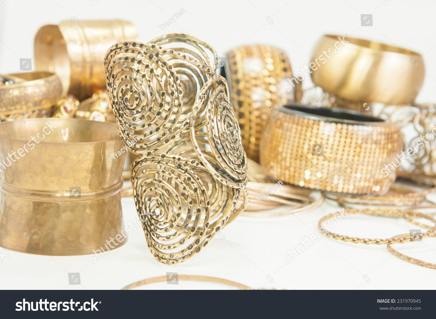 beautiful rings and bangles on handexpensive gold jewelry