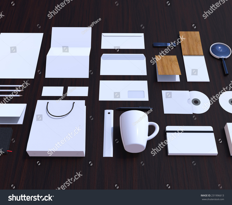Set Corporate Design Mockup Identity Stock Illustration