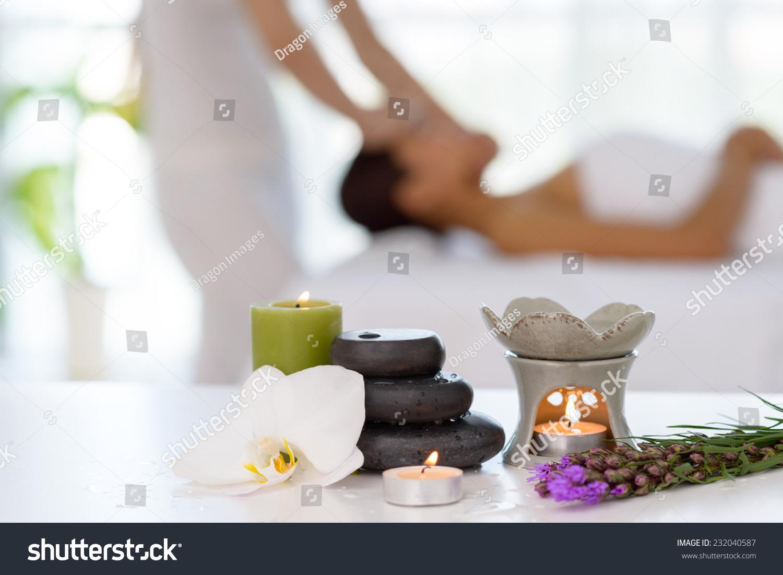 spa concept zen stones candles flowers stock photo edit now