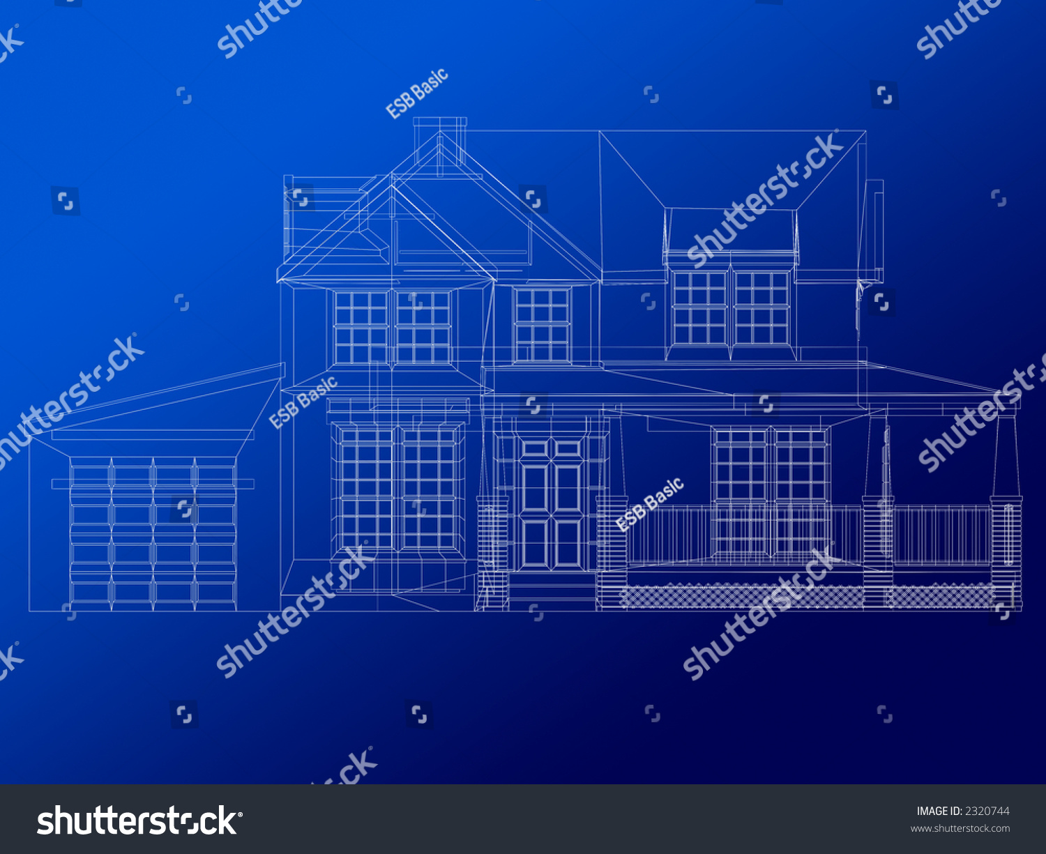 Architecture blueprint house over blue background stock photo architecture blueprint of a house over a blue background malvernweather Images