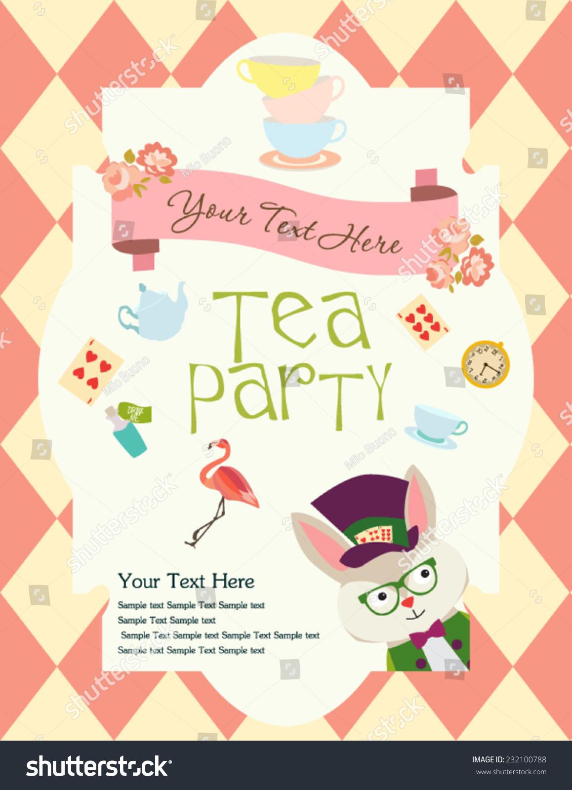 Tea Party Invitation Stock Vector Royalty Free 232100788