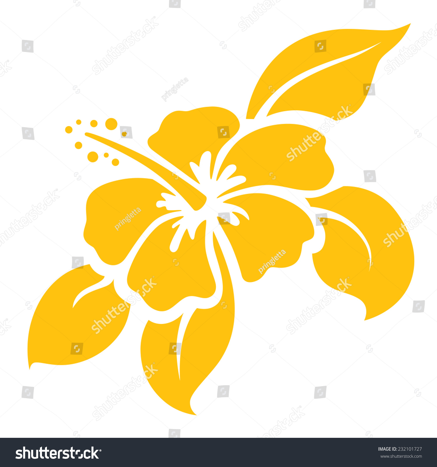 Hibiscus icon stencil gradient free easy stock vector royalty free hibiscus icon or stencil gradient free and easy to change color izmirmasajfo