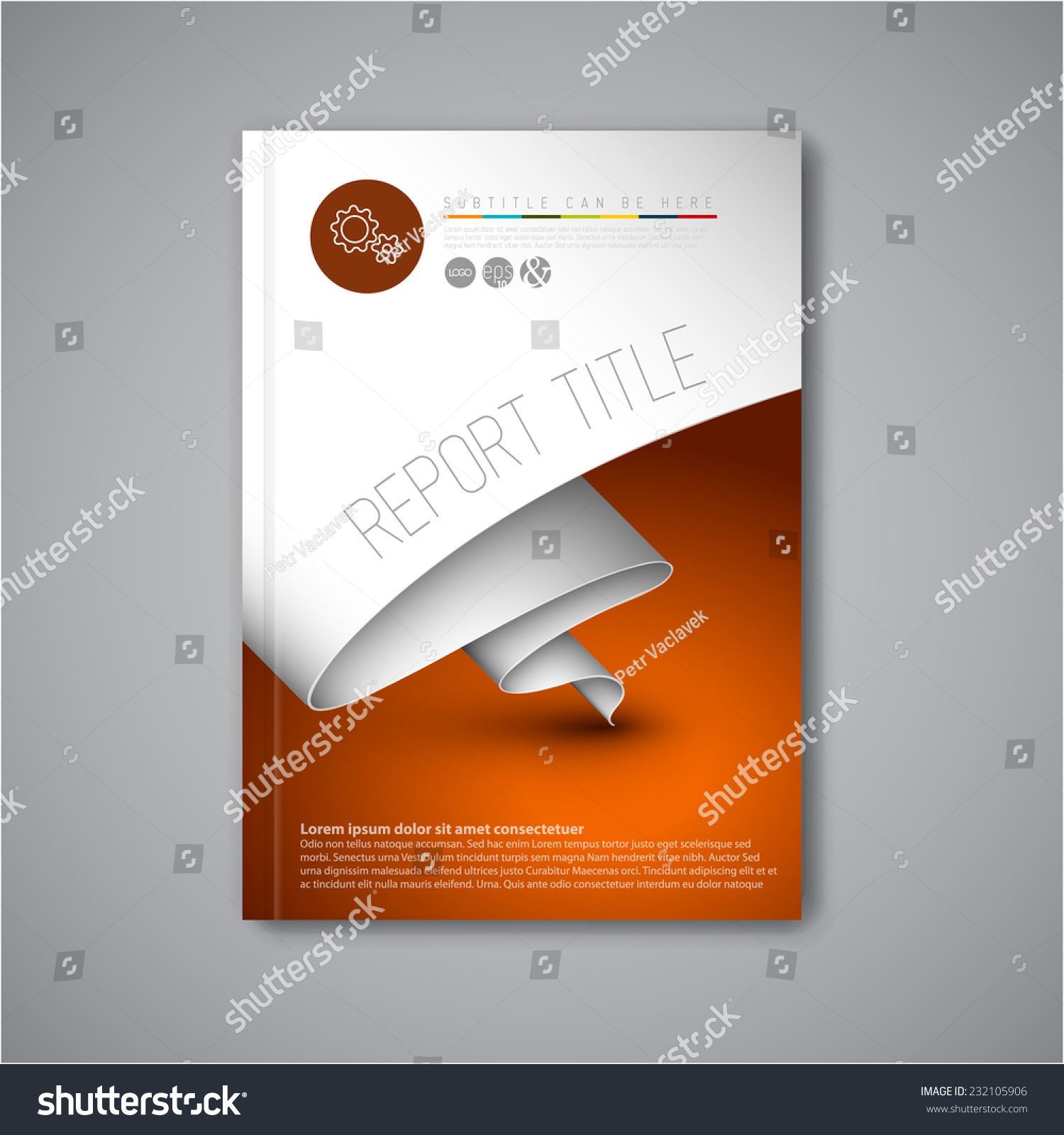stock vector modern vector abstract brochure book flyer design template with paper 232105906 Top Result 60 Inspirational Paper Ad Design Templates