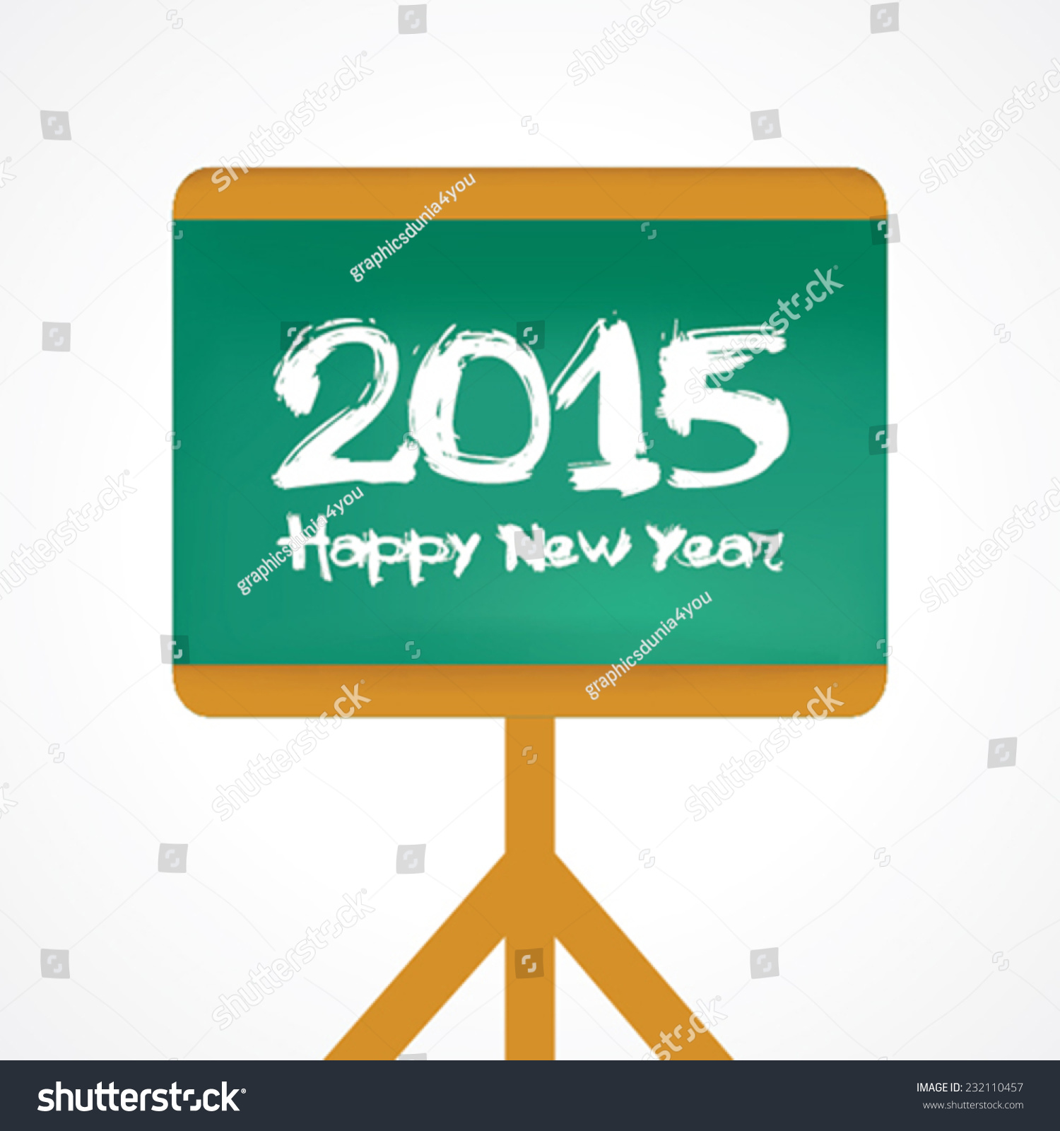 Creative greeting new year 2015 stock stock vector 232110457 creative greeting for new year 2015 stock vector kristyandbryce Gallery