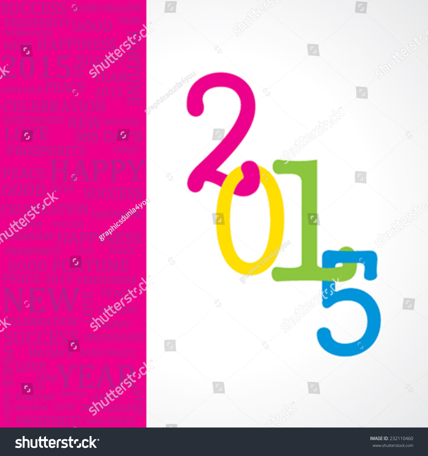Creative greeting new year 2015 stock stock vector 232110460 creative greeting for new year 2015 stock vector kristyandbryce Gallery