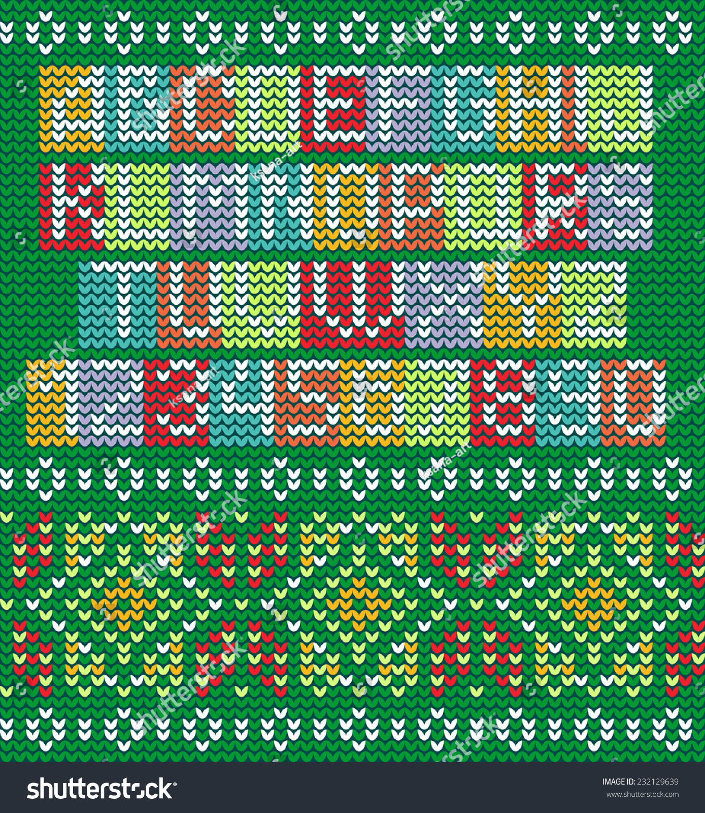 Colorful Alphabet Knitted Seamless Ornament Bright Stock Vector ...