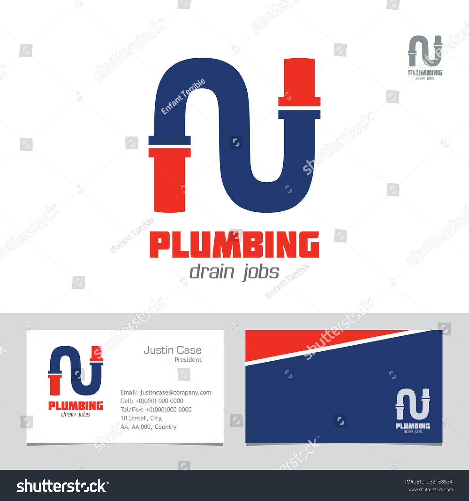 Royalty-free Plumbing Business Sign & Business card… #232168534 ...