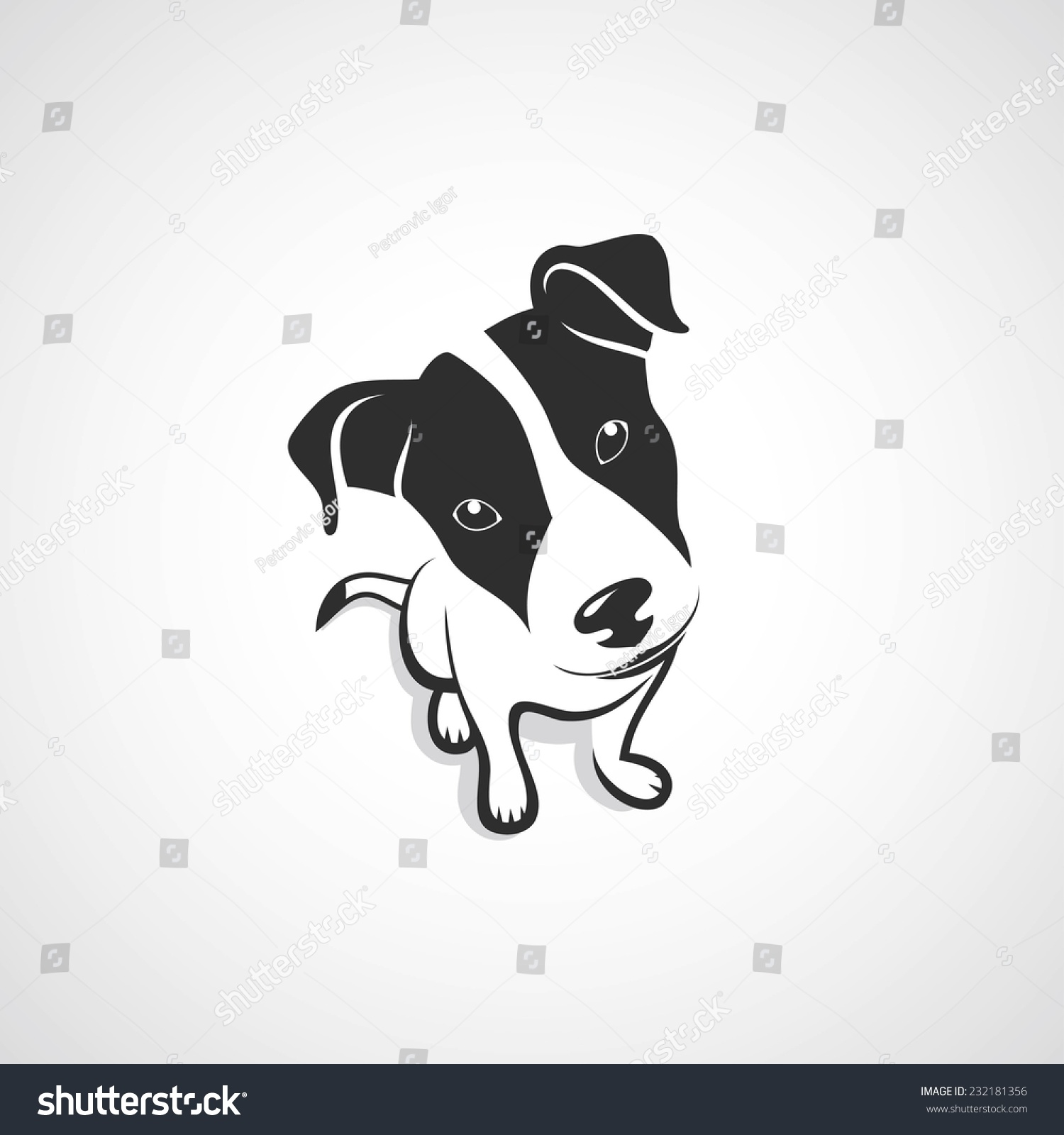 Stock Vector Jack Russell Terrier Vector Illustration