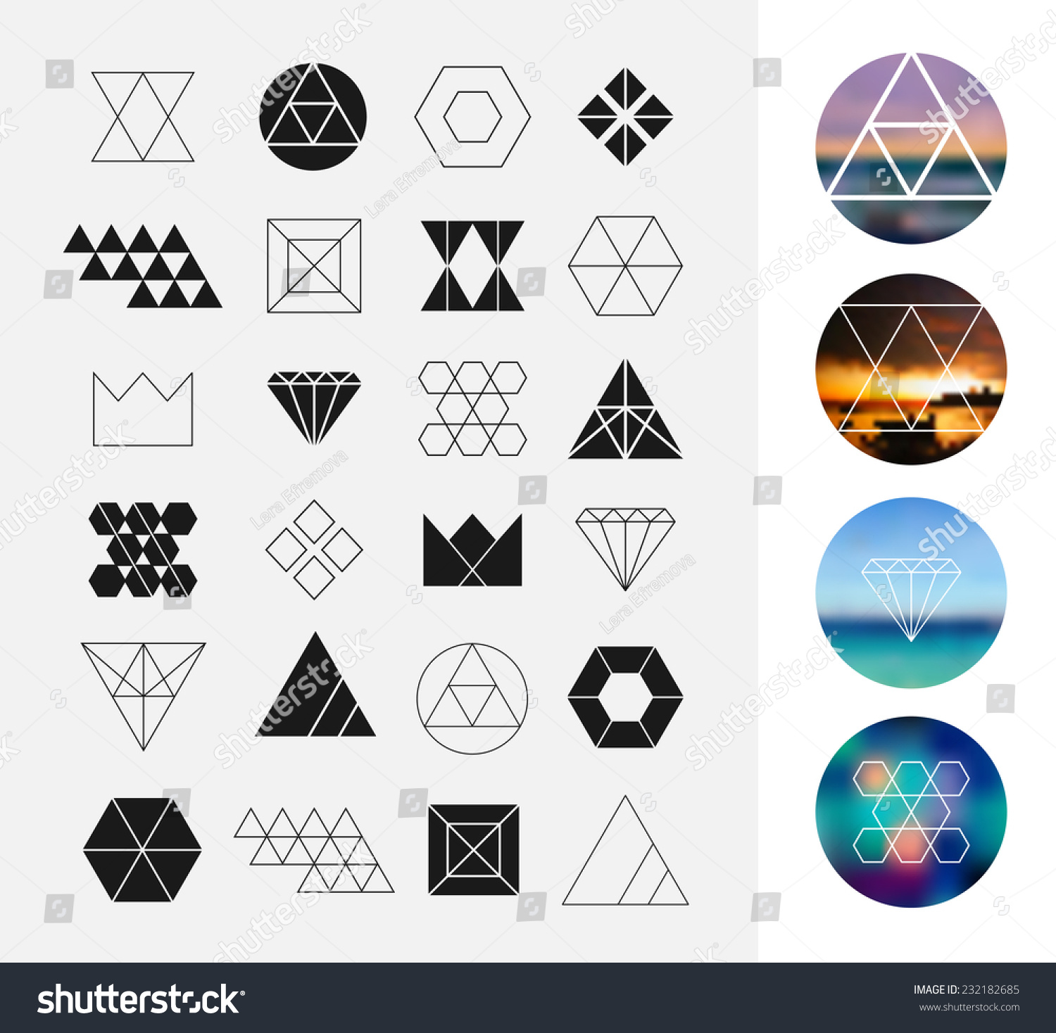 Worksheet Shapes Geometry set geometric shapes hipster retro backgrounds stock vector of and logotypes