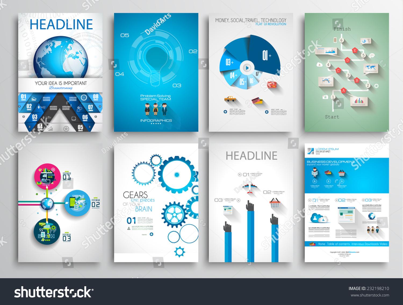 Set Flyer Design Web Templates Brochure Vector 232198210 – Web Flyer
