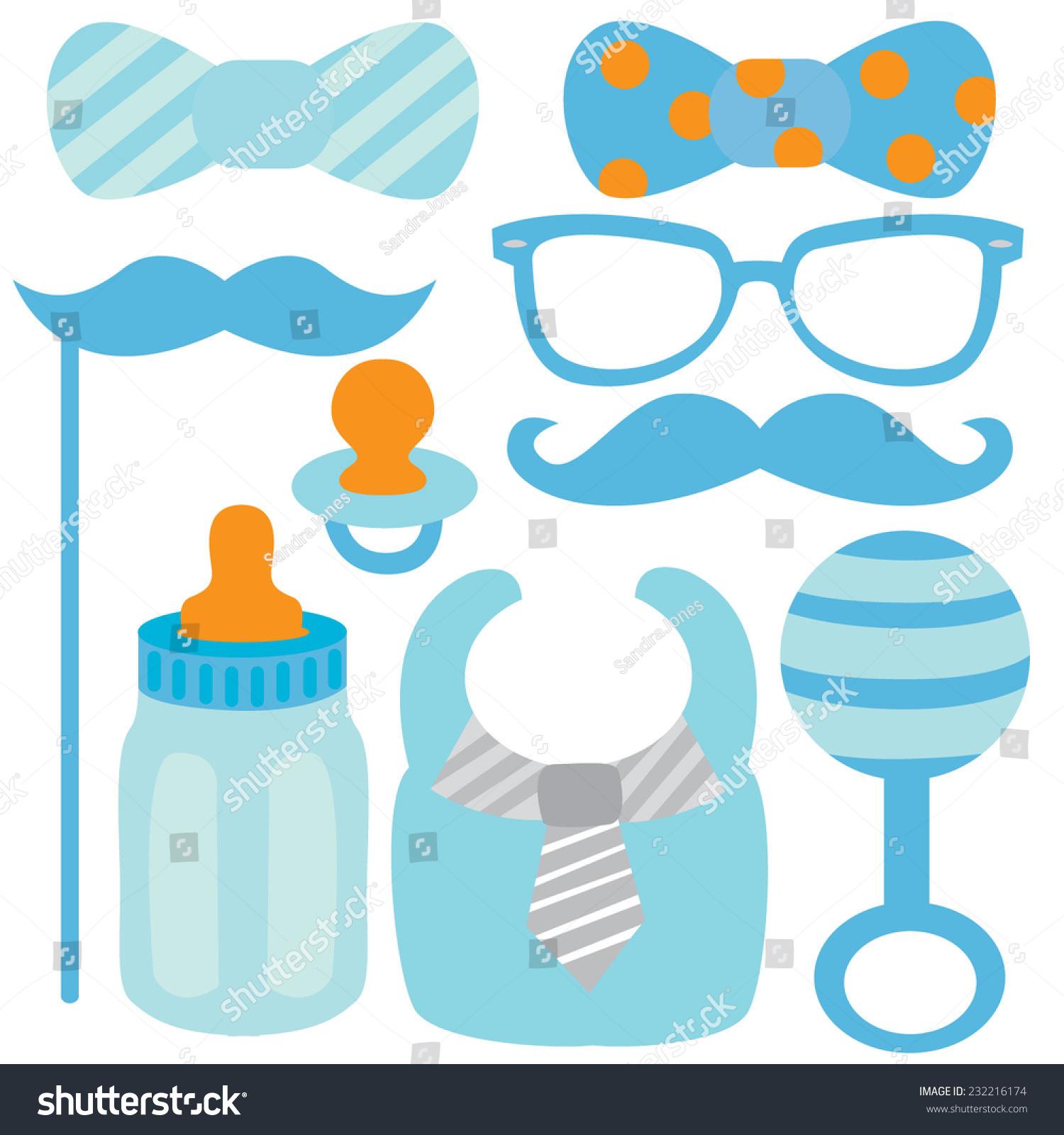 Hipster Baby Boy Stock Vector 232216174 - Shutterstock