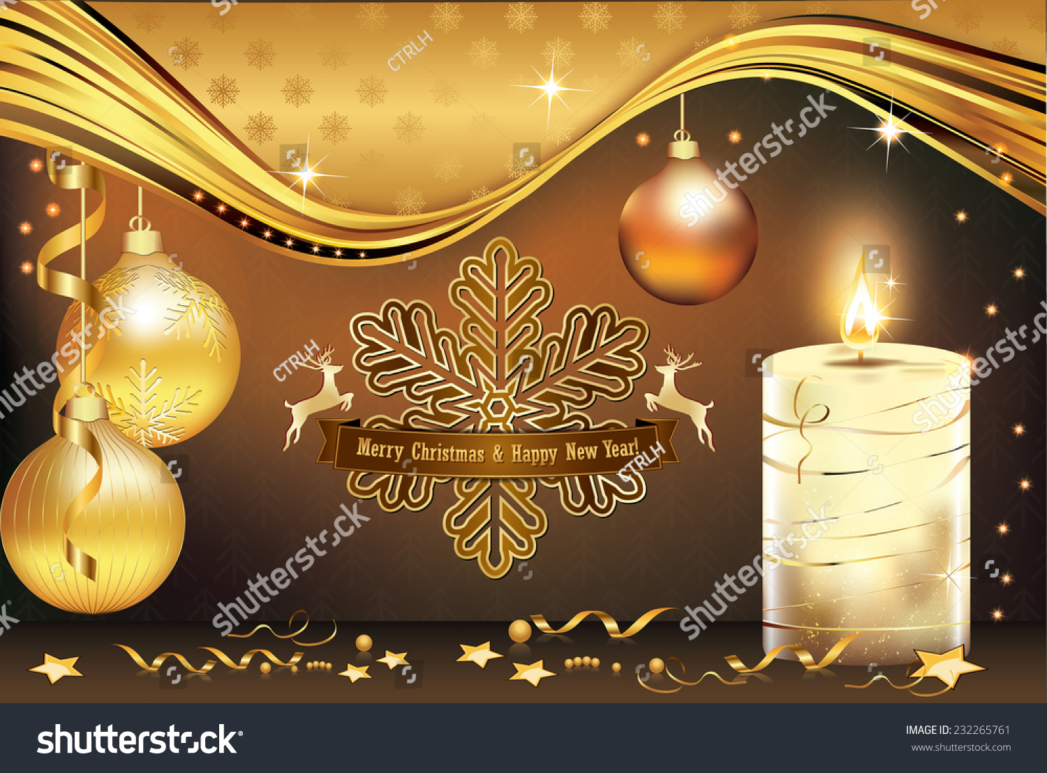 Business Greeting Card End Year Contains Stock Vector Royalty Free