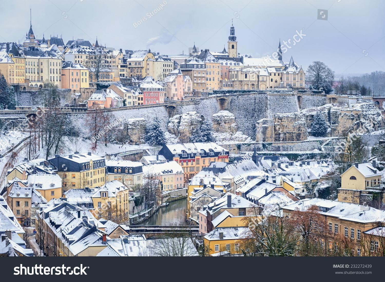 Luxembourg city winter stock photo 232272439 shutterstock luxembourg city in winter thecheapjerseys Gallery