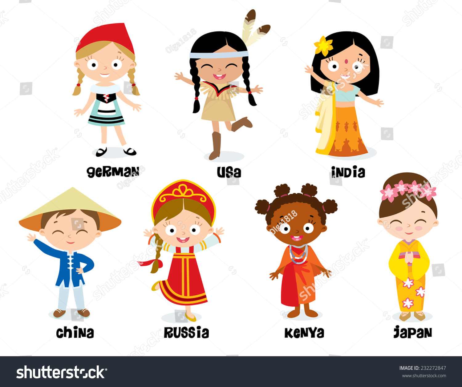 National Costumes Stock Vector 232272847 - Shutterstock