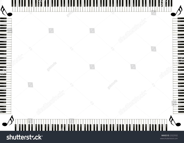 Piano Musical Border W...
