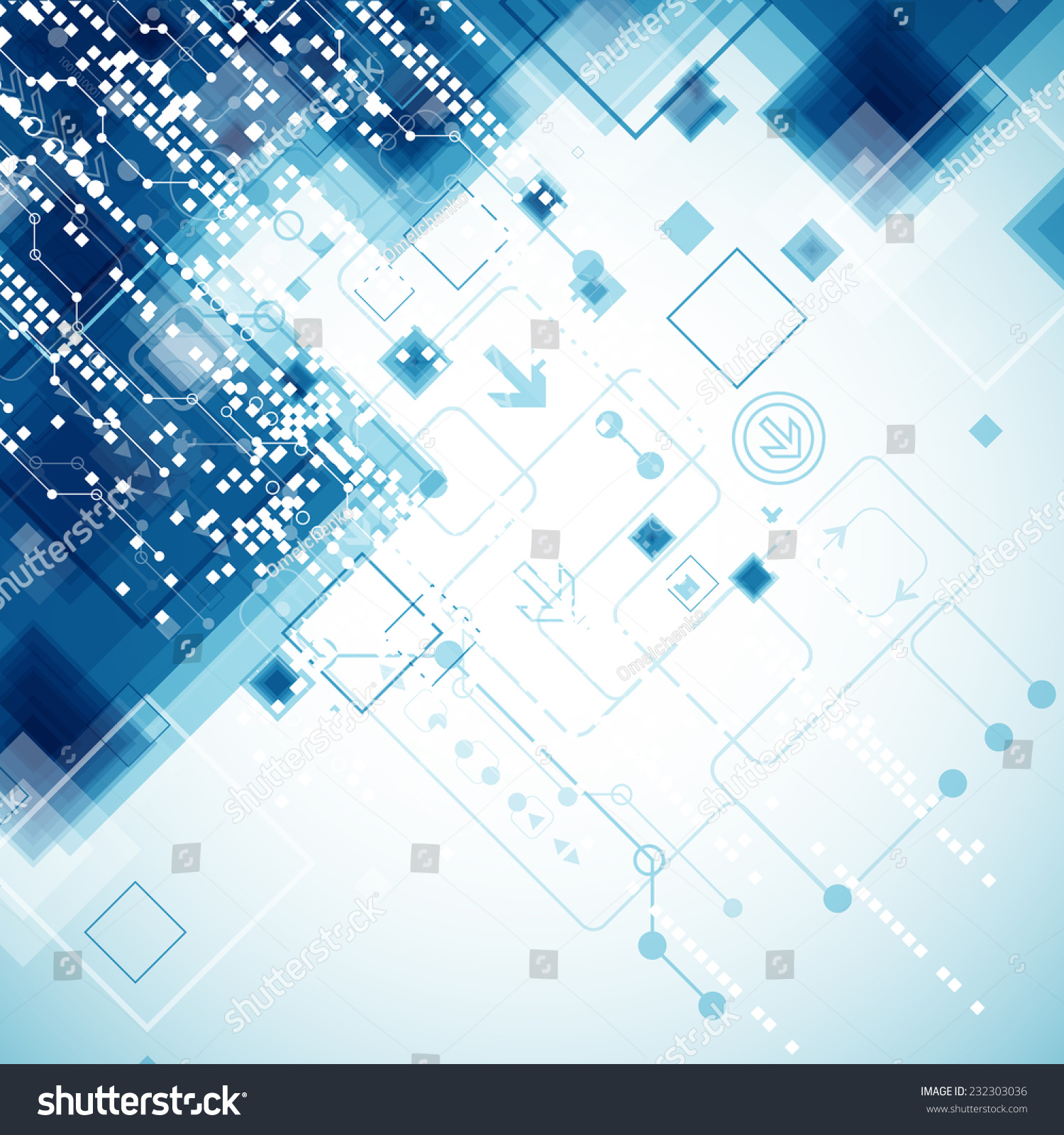 abstract technology business template background vector stock vector