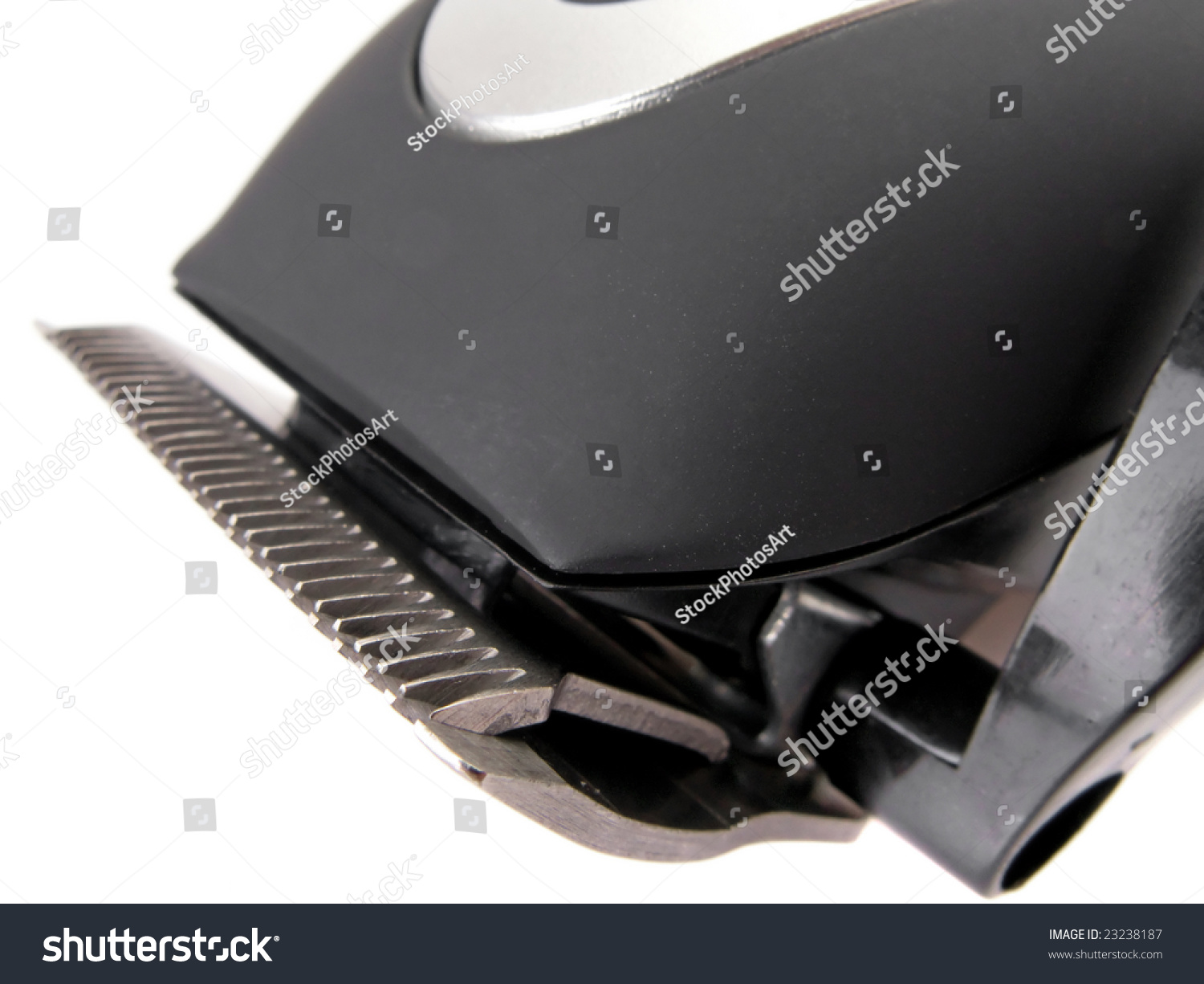 detail of a modern electric hair beard trimmer stock photo 23238187 shutterstock. Black Bedroom Furniture Sets. Home Design Ideas