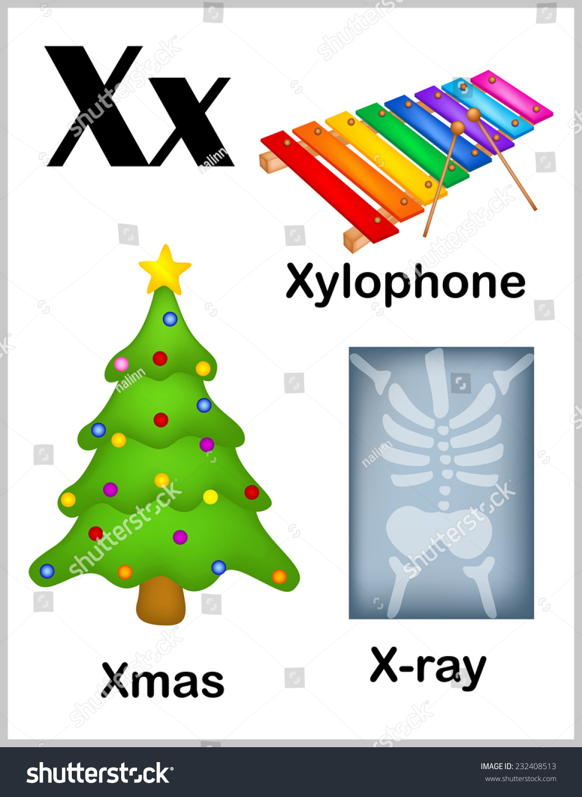 Kindergarten X Words - Yourhelpfulelf