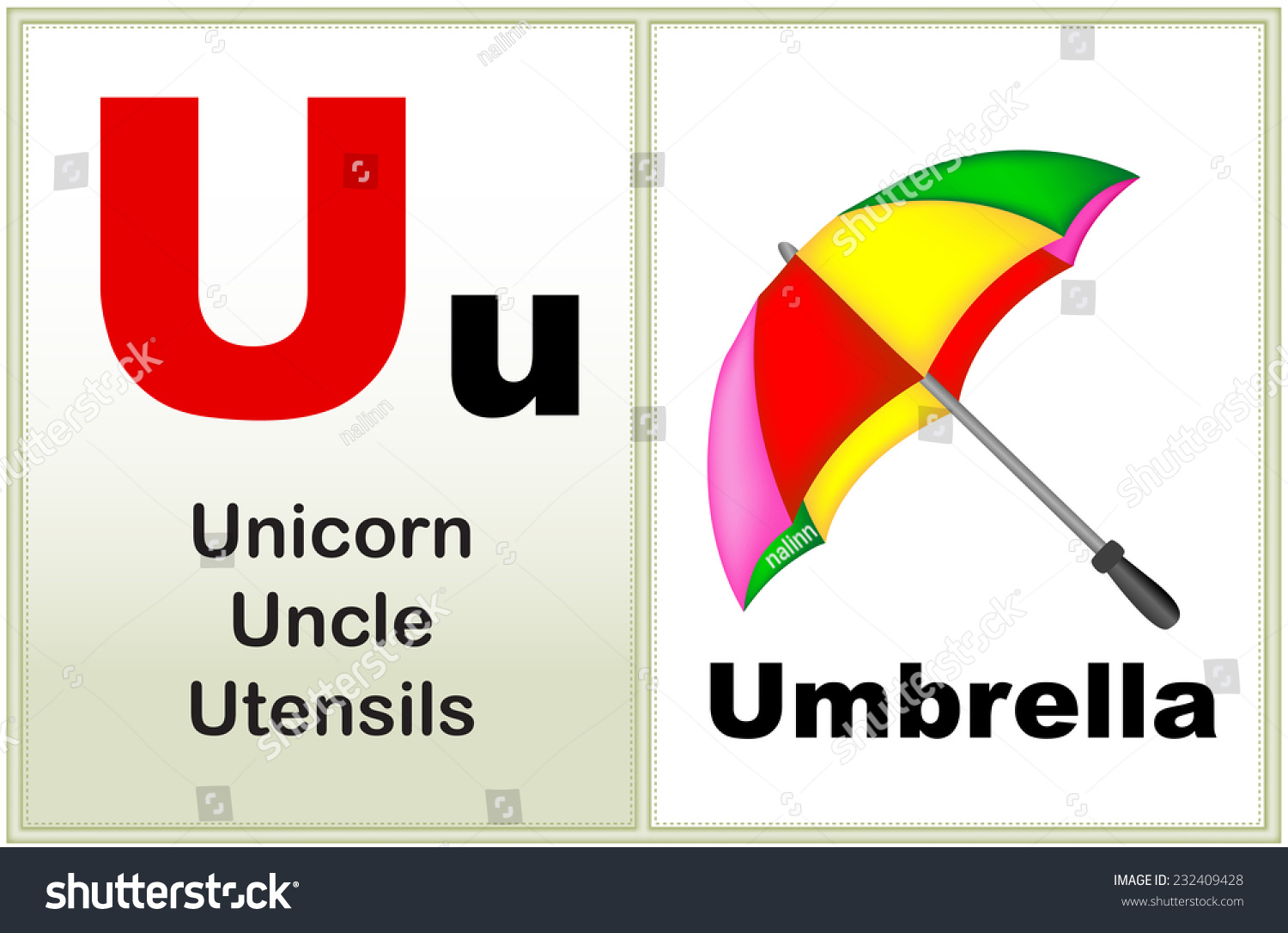 Alphabet Letter U Clipart Few Similar Stock Vector 232409428 ...
