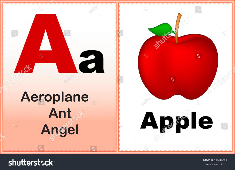 Alphabet Letter Clipart Few Similar Words Stock Vector Royalty Free