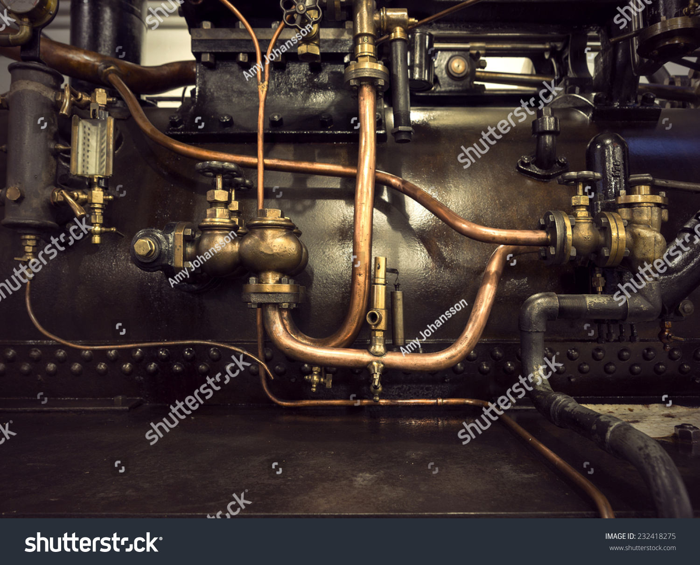 Detail Vintage Machine Pipes Valves Stock Photo 232418275 ...