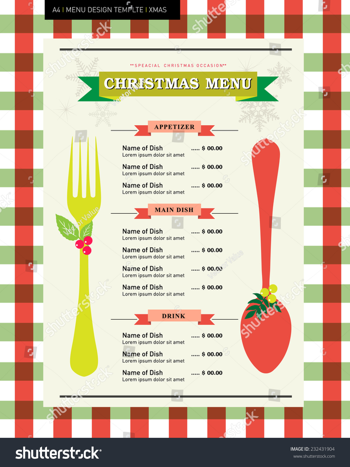 restaurant menu design template christmas party stock vector restaurant menu design template for christmas party homemade country style concept