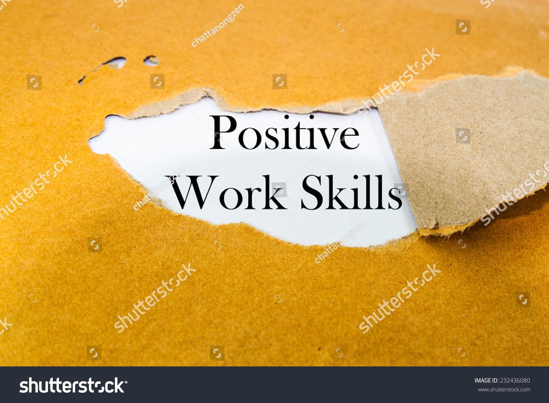 positive work skills concept on brown envelope stock photo positive work skills concept on brown envelope stock photo 232436080 shutterstock