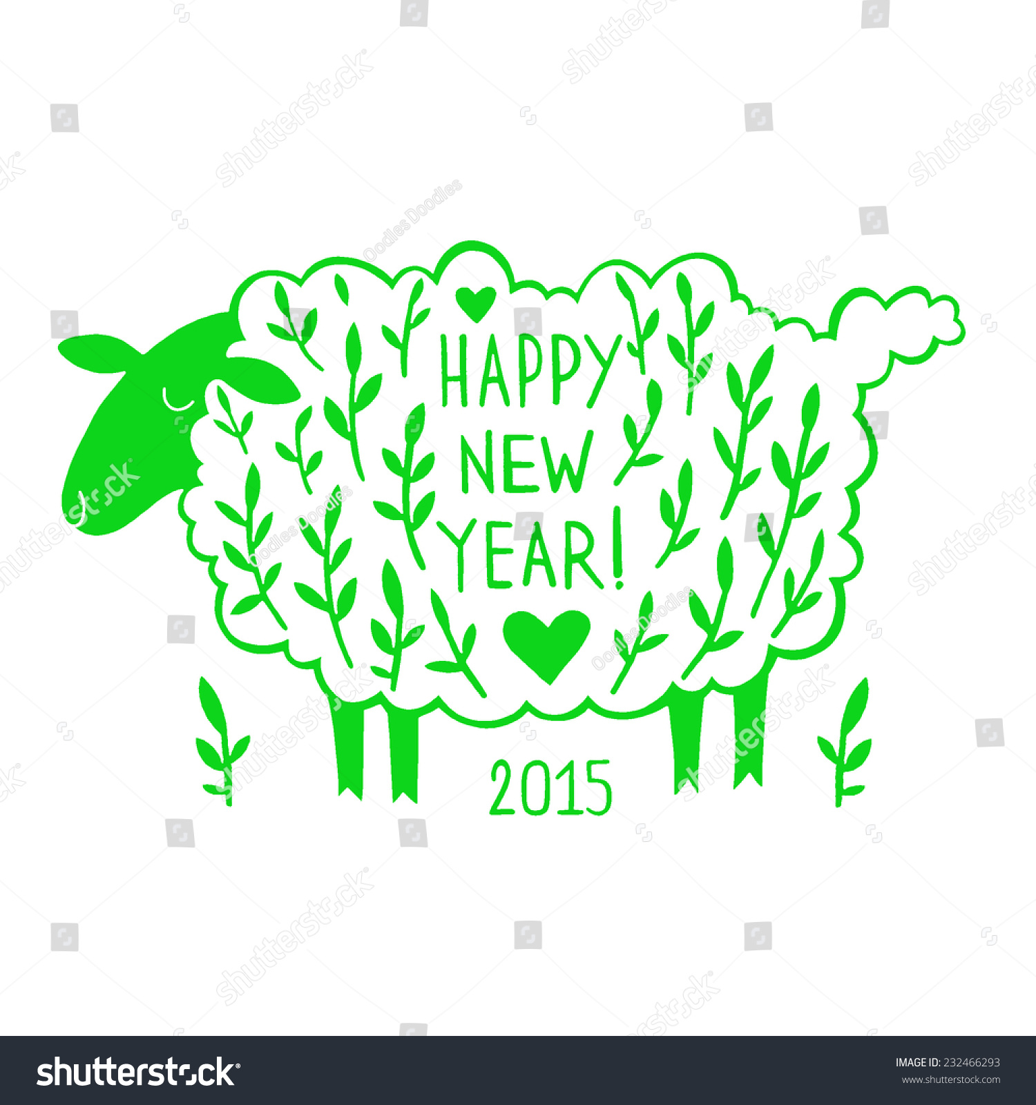 Paper cutting greeting card sheep silhouette stock illustration paper cutting greeting card with a sheep silhouette a symbol of 2015 chinese new year kristyandbryce Image collections