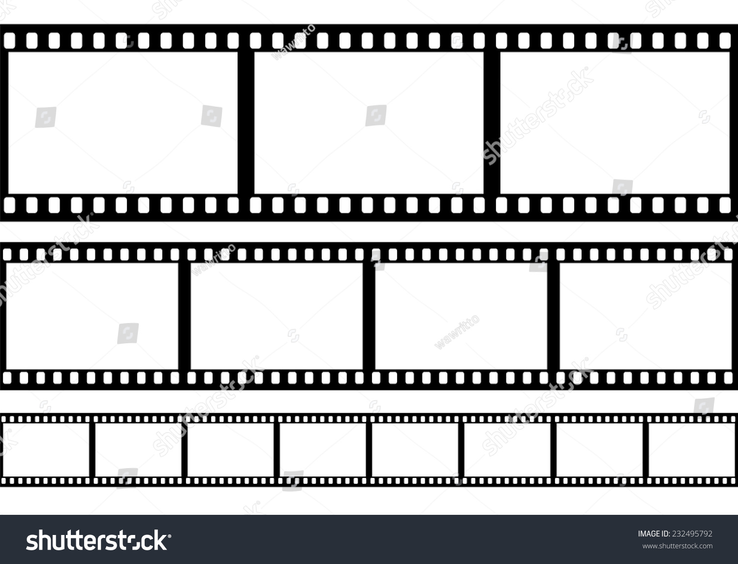 set of film frame vector illustration