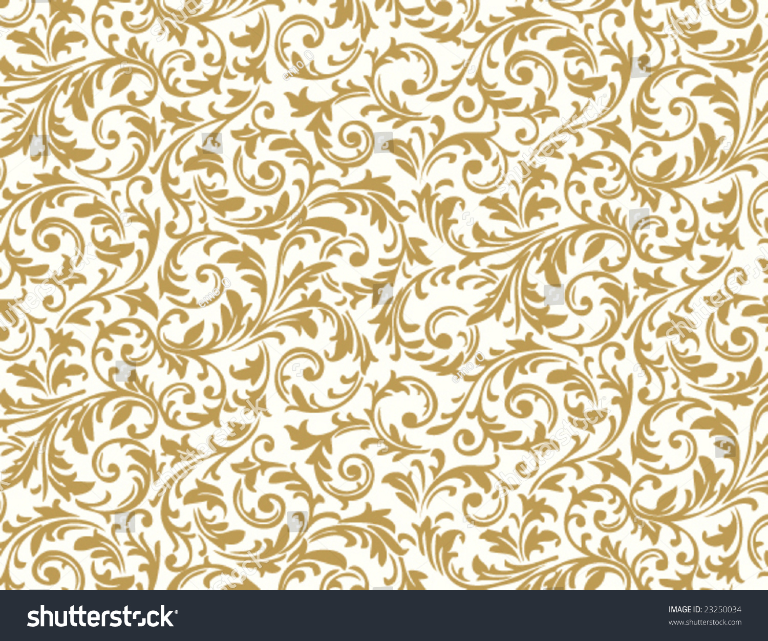 Seamless Floral Pattern Stock Vector Illustration 23250034