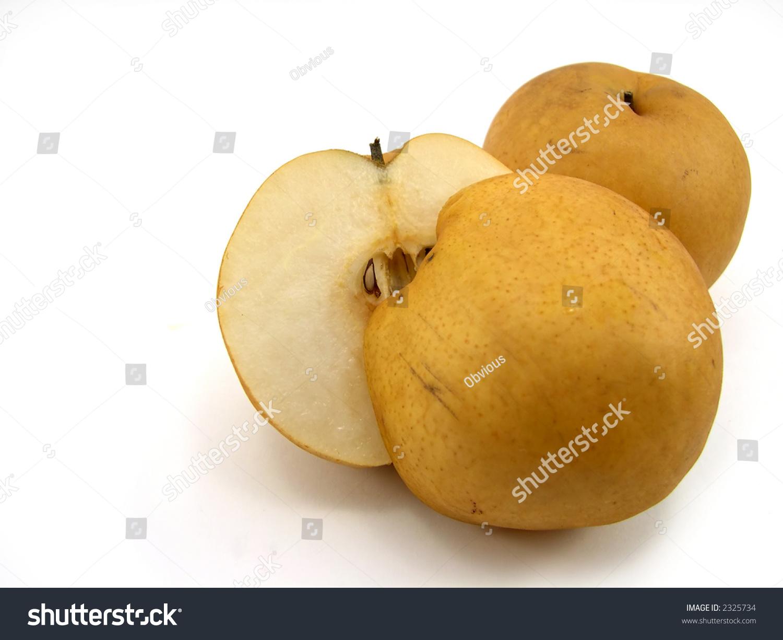 Beautiful Cut Hybrid Pear Apple On Stock Photo Edit Now 2325734