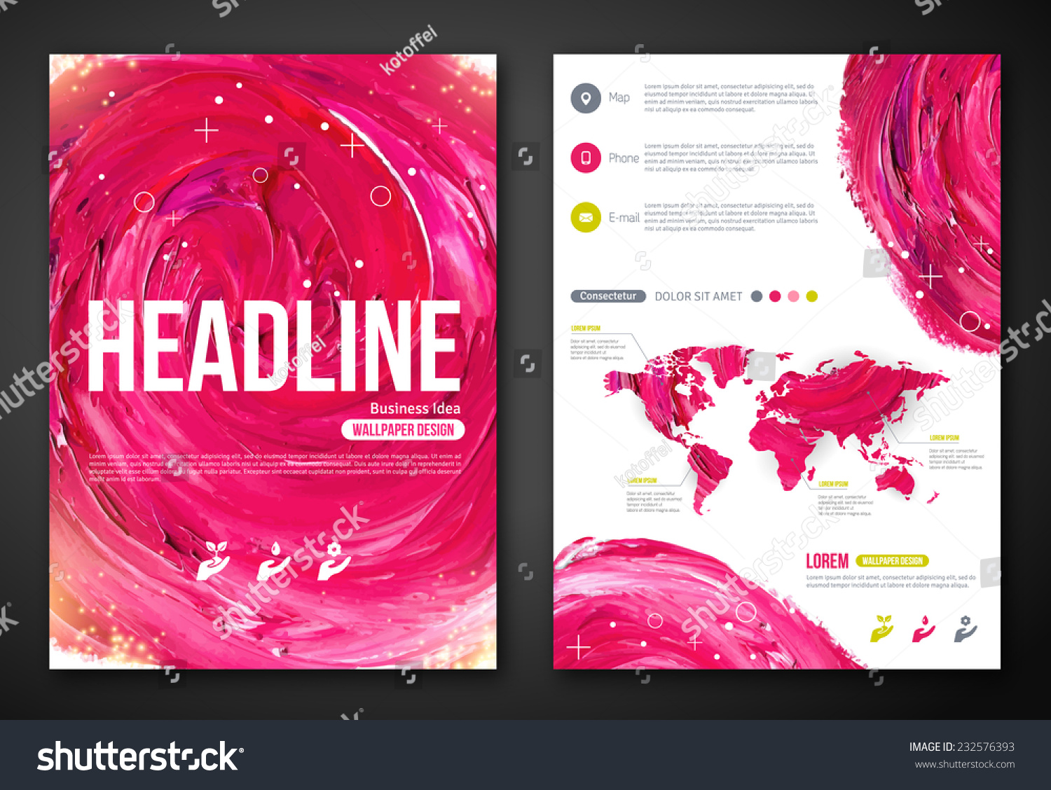 business poster flyer template paint abstract stock vector business poster or flyer template paint abstract pink background vector illustration typographic template