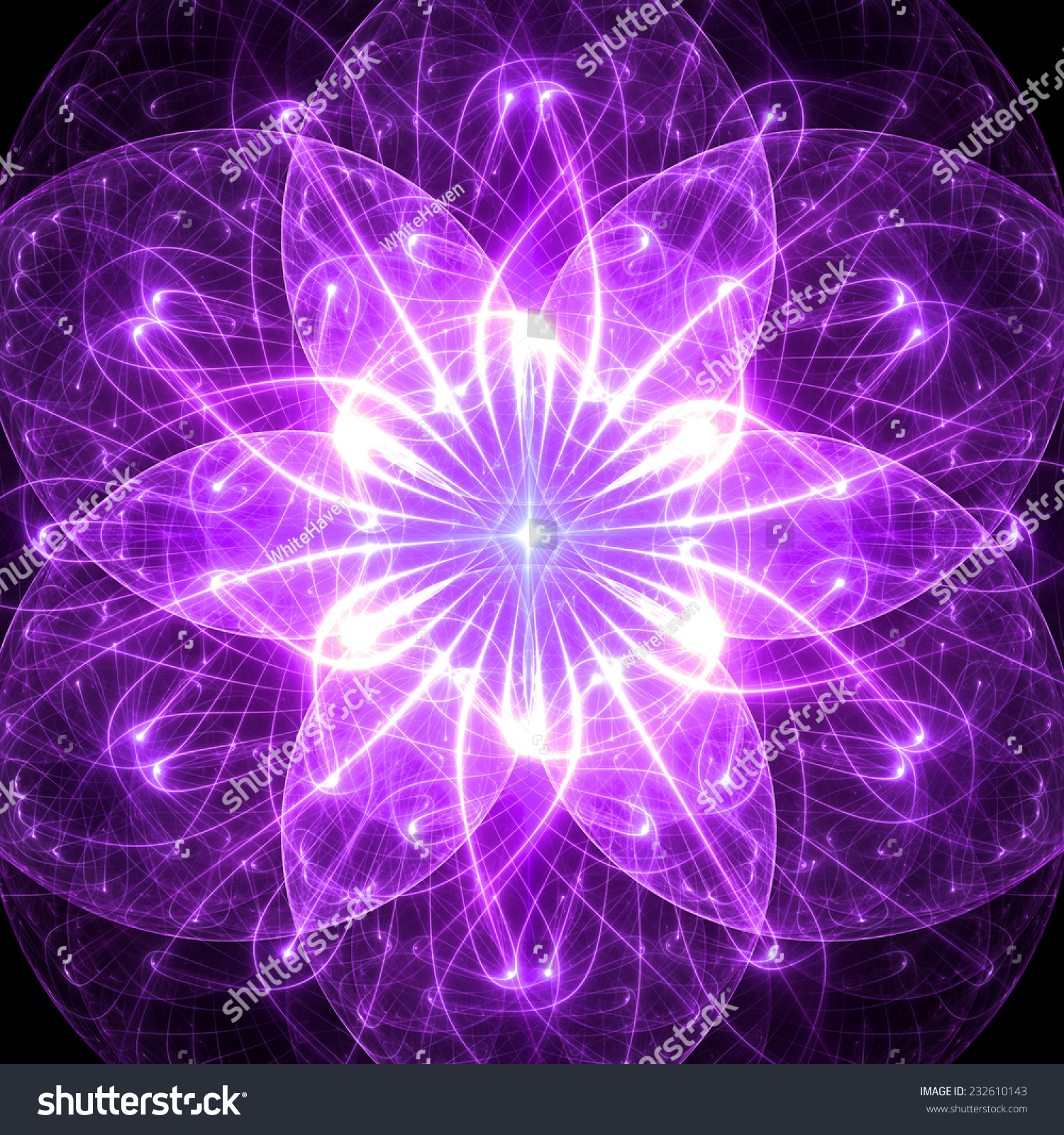 Abstract Purple Star Like Flower Background In High Resolution With