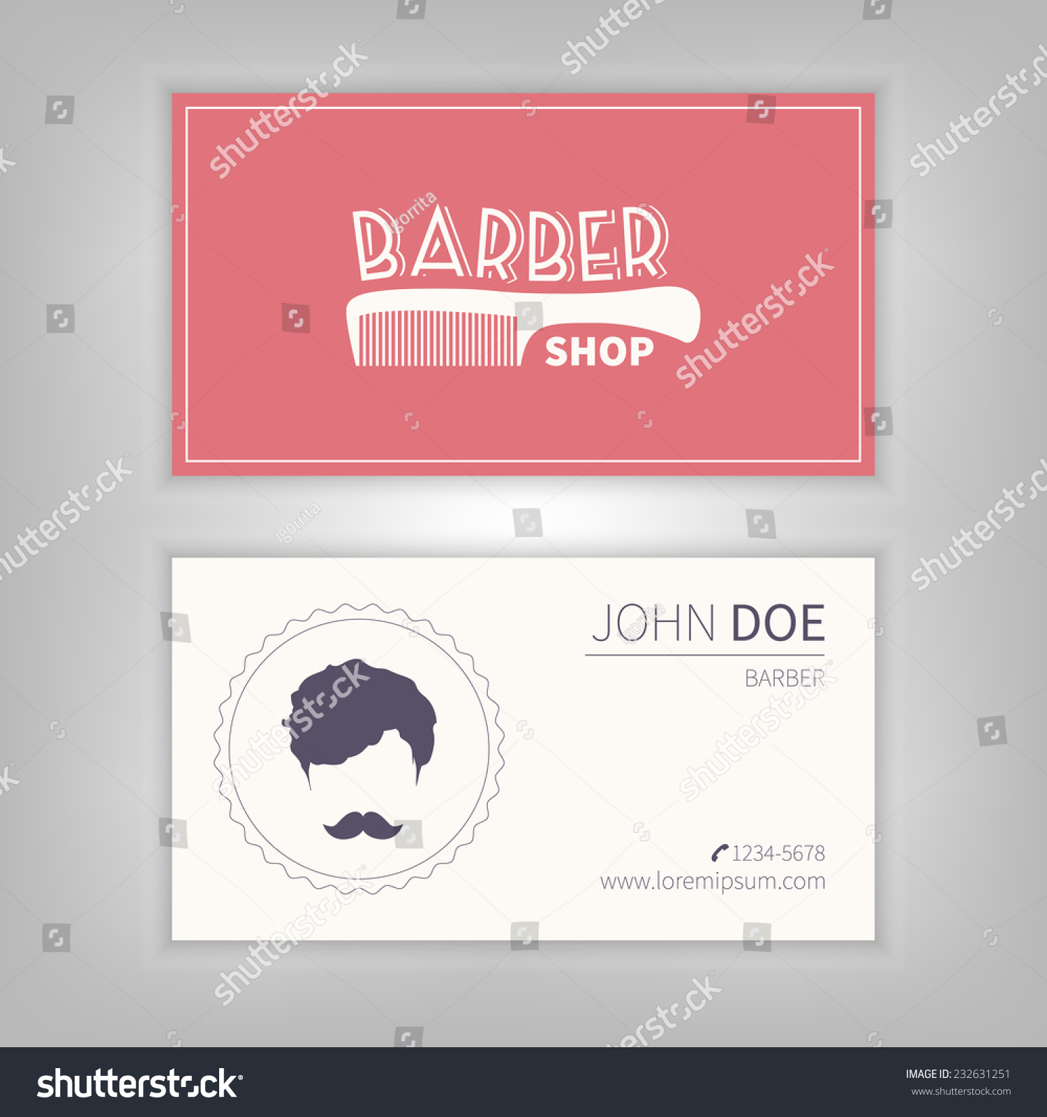 Beautiful pictures of barber shop business cards business cards barber shop business card design template stock vector flashek Choice Image