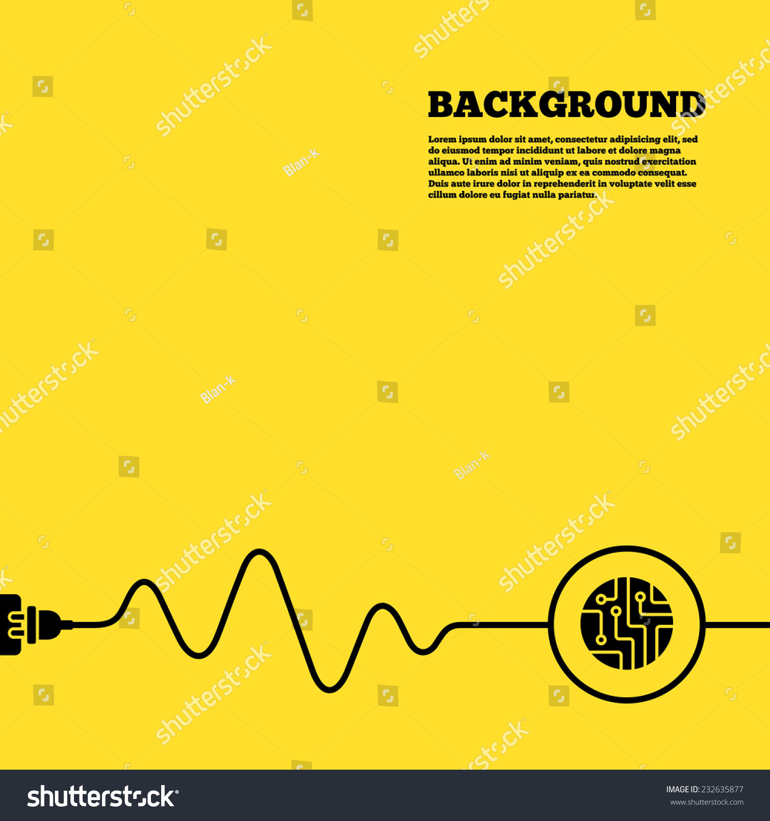 ... board sign icon. Technology scheme circle symbol. Yellow poster with